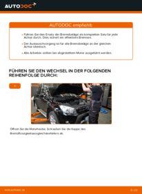 Wie der Wechsel durchführt wird: Bremsbeläge Toyota RAV4 III 2.2 D 4WD (ALA30_) 2.0 4WD (ACA30_) 2.2 D (ALA35_) tauschen