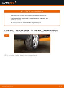 How to carry out replacement: Anti Roll Bar Bushes on 1.9 TDI VW Sharan 1
