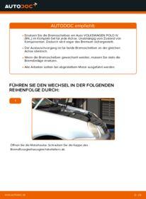 Wie der Wechsel durchführt wird: Bremsscheiben Polo 9n 1.4 16V 1.2 12V 1.4 TDI tauschen