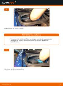 Wie der Wechsel durchführt wird: Innenraumfilter Peugeot 206 cc 2d 1.6 16V 2.0 S16 1.6 HDi 110 tauschen