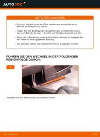 Wie der Wechsel durchführt wird: Innenraumfilter Volvo V70 SW 2.4 2.4 D5 2.4 T tauschen