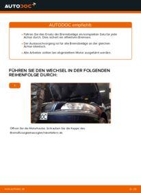 Wie der Wechsel durchführt wird: Bremsbeläge Volvo V70 SW 2.4 2.4 D5 2.4 T tauschen