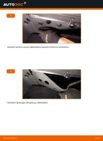 Kaip atlikti keitimą: 1.9 TDI Touran 1t1 1t2 Oro filtras, keleivio vieta