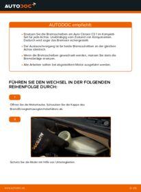 Wie der Wechsel durchführt wird: Bremsscheiben CITROËN C3 I (FC_) 1.4 HDi 1.4 i 1.1 i tauschen