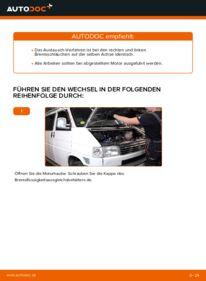 Wie der Wechsel durchführt wird: Bremsschläuche VW TRANSPORTER IV Bus (70XB, 70XC, 7DB, 7DW) 2.5 TDI 2.4 D 1.9 TD tauschen