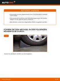 Wie der Wechsel durchführt wird: Radlager Toyota Rav4 II 2.0 D 4WD (CLA20_, CLA21_) 2.0 4WD (ACA21, ACA20) 1.8 (ZCA25_, ZCA26_) tauschen