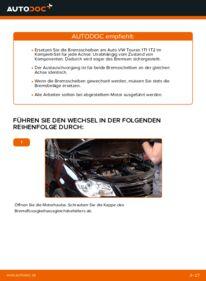 Wie der Wechsel durchführt wird: Bremsscheiben Touran 1t1 1t2 1.9 TDI 2.0 TDI 16V 2.0 TDI tauschen