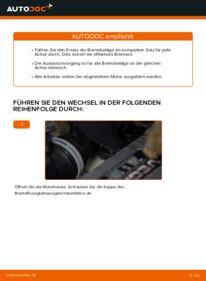 Wie der Wechsel durchführt wird: Bremsbeläge Touran 1t1 1t2 1.9 TDI 2.0 TDI 16V 2.0 TDI tauschen