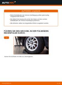 Wie der Wechsel durchführt wird: Stoßdämpfer Ford Focus mk2 Limousine 1.6 TDCi 1.8 TDCi 1.6 tauschen