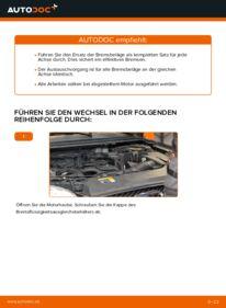 Wie der Wechsel durchführt wird: Bremsbeläge Ford Focus mk2 Limousine 1.6 TDCi 1.8 TDCi 1.6 tauschen