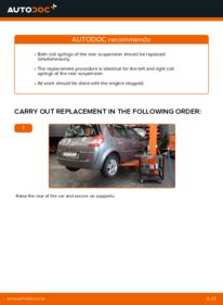 How to carry out replacement: Springs on 1.9 dCi Renault Scenic 2