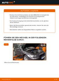 Wie der Wechsel durchführt wird: Bremsscheiben BMW E92 335i 3.0 320d 2.0 335d 3.0 tauschen
