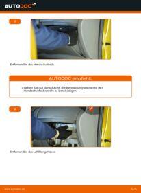Wie der Wechsel durchführt wird: Innenraumfilter Toyota Yaris p1 1.0 (SCP10_) 1.4 D-4D (NLP10_) 1.3 (SCP12_) tauschen