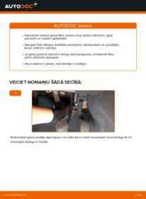 Kā veikt nomaiņu: 2.0 D Volvo v50 mw Salona filtrs