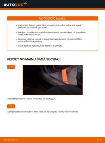 Kā veikt nomaiņu: 1.9 CDTI (M75) Zafira b a05 Salona filtrs