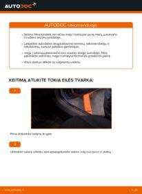 Kaip atlikti keitimą: 1.9 CDTI (M75) Zafira b a05 Oro filtras, keleivio vieta