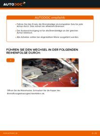 Wie der Wechsel durchführt wird: Bremsbeläge NISSAN LEAF Elektrik Elektrik Elektrik tauschen