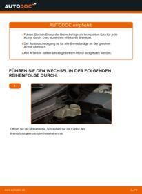 Wie der Wechsel durchführt wird: Bremsbeläge Volvo v50 mw 2.0 D 1.6 D 1.6 D2 tauschen
