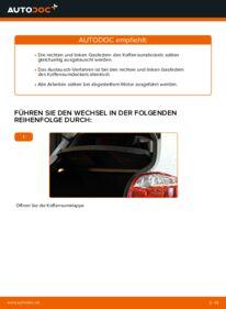 Wie der Wechsel durchführt wird: Heckklappendämpfer Toyota Auris e15 1.4 D-4D (NDE150_) 2.0 D-4D (ADE150_) 1.6 (ZRE151_) tauschen