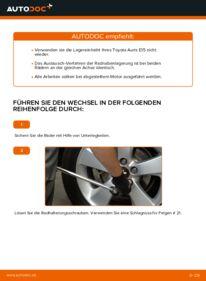 Wie der Wechsel durchführt wird: Radlager Toyota Auris e15 1.4 D-4D (NDE150_) 2.0 D-4D (ADE150_) 1.6 (ZRE151_) tauschen