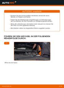 Wie der Wechsel durchführt wird: Innenraumfilter Ford Mondeo bwy 2.0 16V 2.0 TDCi 2.0 16V TDDi / TDCi tauschen