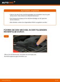 Wie der Wechsel durchführt wird: Bremsbeläge Ford Mondeo bwy 2.0 16V 2.0 TDCi 2.0 16V TDDi / TDCi tauschen