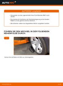 Wie der Wechsel durchführt wird: Radlager Ford Mondeo bwy 2.0 16V 2.0 TDCi 2.0 16V TDDi / TDCi tauschen