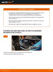 Wie der Wechsel durchführt wird: Bremsscheiben Honda Insight ZE2/ZE3 1.3 Hybrid (ZE28, ZE2) 1.3 Hybrid (ZE2) 1.3 Hybrid (ZE28, ZE2) tauschen