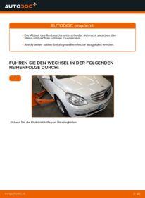 Wie der Wechsel durchführt wird: Querlenker Mercedes W245 B 180 CDI 2.0 (245.207) B 200 CDI 2.0 (245.208) B 170 1.7 (245.232) tauschen
