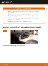 Ako vykonať výmenu: Kabínový filter na 1.4 16V Skoda Fabia 6y5