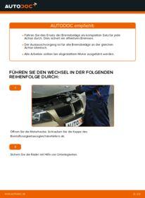 Wie der Wechsel durchführt wird: Bremsbeläge BMW E90 320d 2.0 320i 2.0 318d 2.0 tauschen