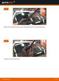 Wie der Wechsel durchführt wird: Scheibenwischer Mercedes W245 B 180 CDI 2.0 (245.207) B 200 CDI 2.0 (245.208) B 170 1.7 (245.232) tauschen
