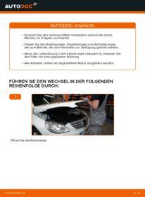 Wie der Wechsel durchführt wird: Innenraumfilter Mercedes W245 B 180 CDI 2.0 (245.207) B 200 CDI 2.0 (245.208) B 170 1.7 (245.232) tauschen