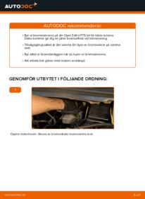 Så byter du Bromsskivor på 2.0 DTI 16V (F75) Opel Zafira f75