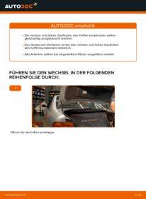 Wie der Wechsel durchführt wird: Heckklappendämpfer BMW E39 523i 2.5 530d 3.0 528i 2.8 tauschen