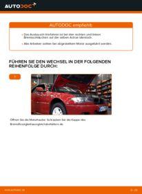 Wie der Wechsel durchführt wird: Bremsschläuche BMW e46 Cabrio 330Ci 3.0 320Ci 2.2 325Ci 2.5 tauschen