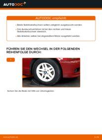 Wie der Wechsel durchführt wird: Stabigummis BMW e46 Cabrio 330Ci 3.0 320Ci 2.2 325Ci 2.5 tauschen