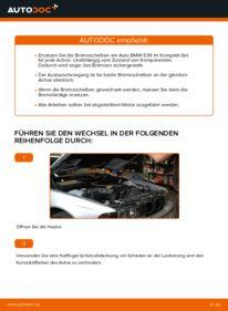 Wie der Wechsel durchführt wird: Bremsscheiben BMW E39 523i 2.5 530d 3.0 528i 2.8 tauschen
