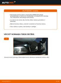 Kā veikt nomaiņu: 523i 2.5 BMW E39 Bremžu diski