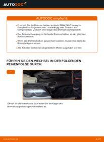 Wie der Wechsel durchführt wird: Bremsscheiben BMW 3 Touring (E46) 320d 2.0 320i 2.2 330d 2.9 tauschen