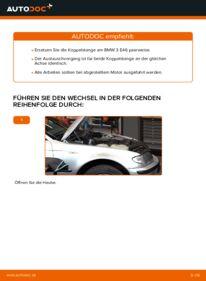 Wie der Wechsel durchführt wird: Koppelstange BMW 3 Touring (E46) 320d 2.0 320i 2.2 330d 2.9 tauschen