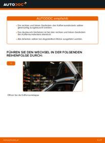 Wie der Austausch bewerkstelligt wird: Heckklappendämpfer beim 2.0 TDI 16V Audi A3 8p1