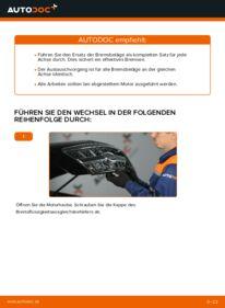 Wie der Wechsel durchführt wird: Bremsbeläge KIA Sorento jc 2.5 CRDi 2.4 3.5 V6 tauschen