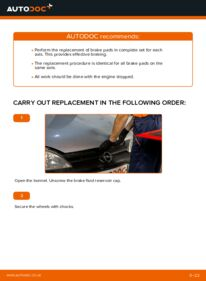 How to carry out replacement: Brake Shoes on 1.2 (F08, F68) Opel Corsa C