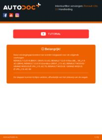 Vervanging uitvoeren: Interieurfilter RENAULT CLIO