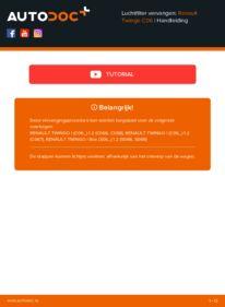Vervanging uitvoeren: Luchtfilter RENAULT TWINGO