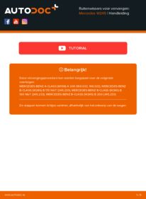 Vervanging uitvoeren: Ruitenwissers MERCEDES-BENZ B-CLASS