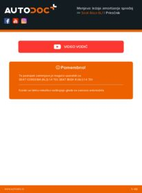 Kako izvesti menjavo: Ležaj Amortizerja na 1.9 TDI Seat Ibiza 6l1