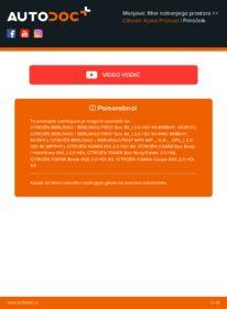 Kako izvesti menjavo: Filter notranjega prostora na 2.0 HDi Citroen Xsara Picasso