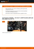 Wie Getriebelagerung beim VW GOLF V (1K1) wechseln - Handbuch online